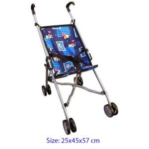 Blue patterned dolls stroller $15.50-500x500
