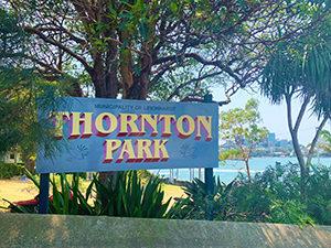 Thornton Park sign - Balmain East