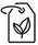 Recycle clothes label icon