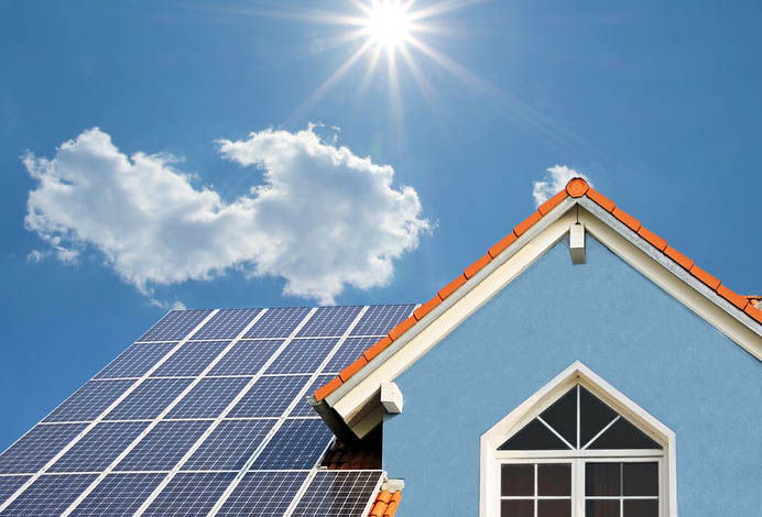 Solar panels on house - Every Little Step Challenge