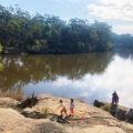 Parramatta Lake rocks