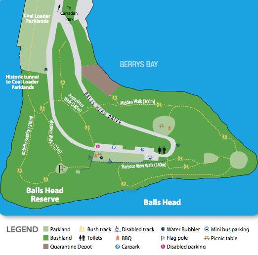Balls Head Reserve Map
