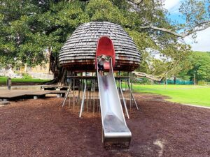 Cubby house slide at Jubilee Park