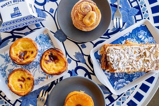 Sweet Belem pastries