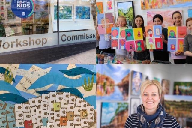 Julie Peadon art studio