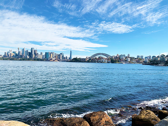 View of the Sydney Harbour Bridge from Cremorne