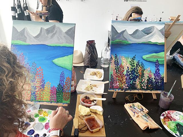 Finished paintings of Lake Tekapo