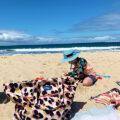 The Friday People bag as a beach bag