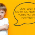 Grump toddler boy