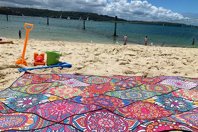 Tesalate towel at Shark Beach