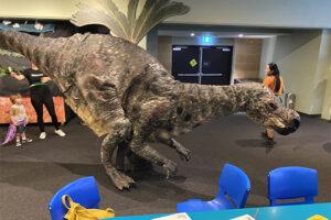Winny the Muttaburrasaurus puppet at Australian Museum