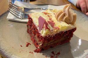Red velvet cake at Kurtosh Marrickville Metro