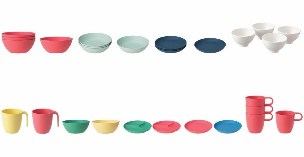 HEROISK and TALRIKA Plates, Bowls and Mugs