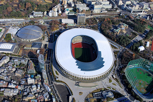National Stadium, Tokyo, where the Olympics are being held.